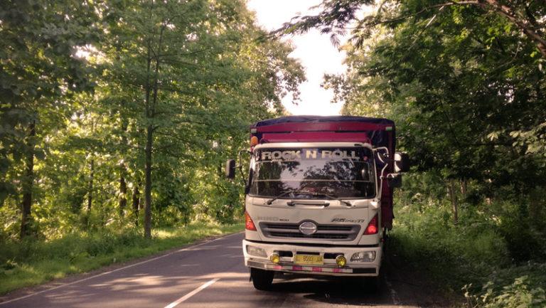 Camion en la cuneta de una carretera. Rock & Roll se llamaba.