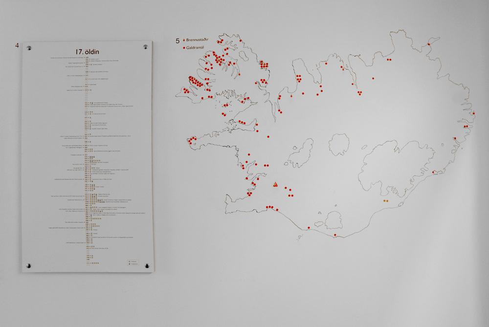 Mapa donde los puntos rojos representan donde hubo un juicio o una quema por brujería.