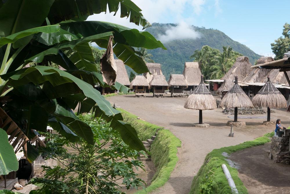 Vista general del pueblo tradicional Tololela.  RUTA ISLA DE FLORES. INDONESIA. VIAJE EN MOTO 5 ETAPAS