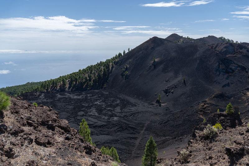 Vista del mar de la lava del Volcán Duraznero. Ruta de los Volcanes. Perder el Rumbo