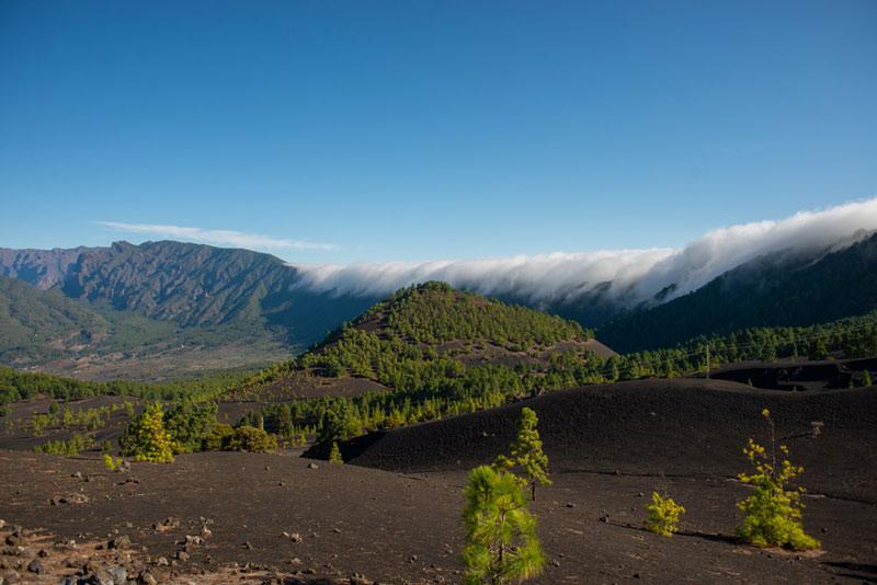 Vista parcial del valle de El Paso en la Palma. Ruta de los Volcanes. Perder el Rumbo.