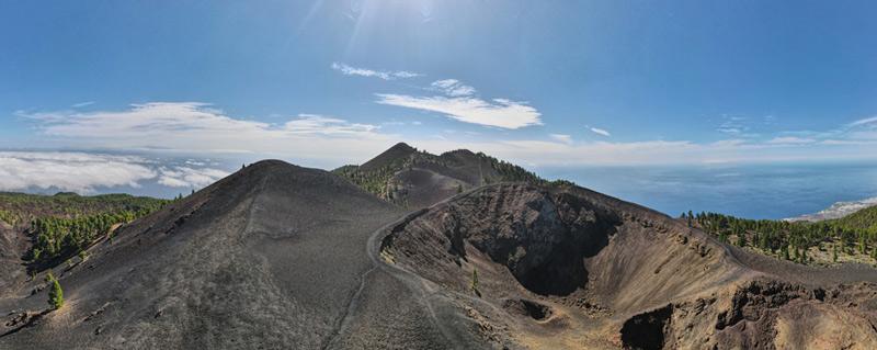Vista aérea volcán Duraznero - perder le rumbo